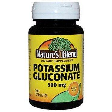 Potassium gluconate, vitamin