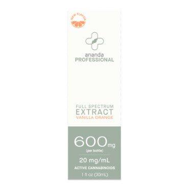 CBD, 600mg Full Spectrum Tincture - Vanilla Orange